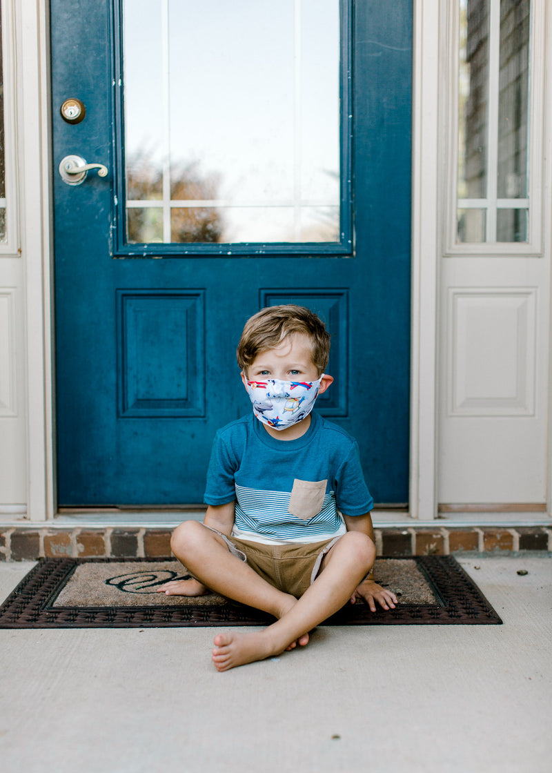 Kids Face Masks - Airplane