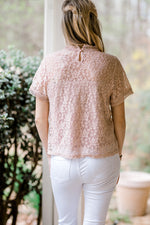 lace top in mauve - epiphany boutiques