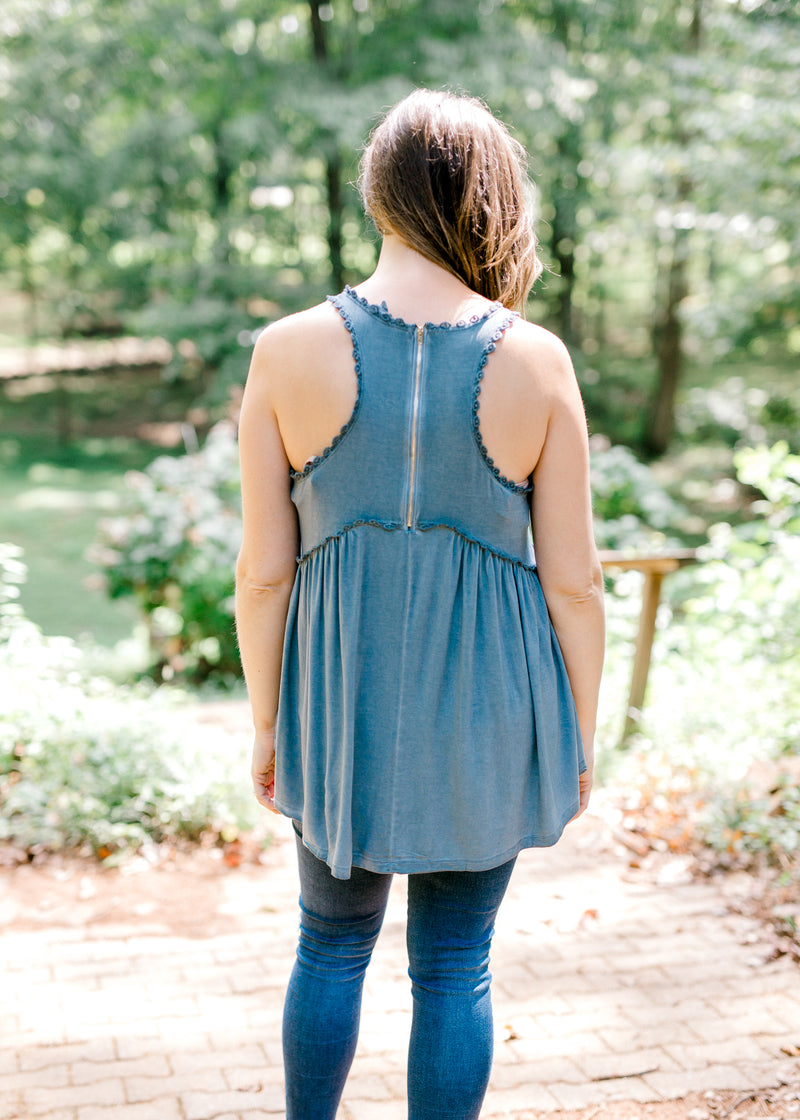 Midnight Blue Layer Racerback Top