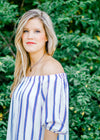off the shoulder stripe dress - epiphany boutiques