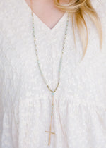 mint necklace with cross - epiphany boutiques
