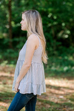 X Mixed Stripes Top