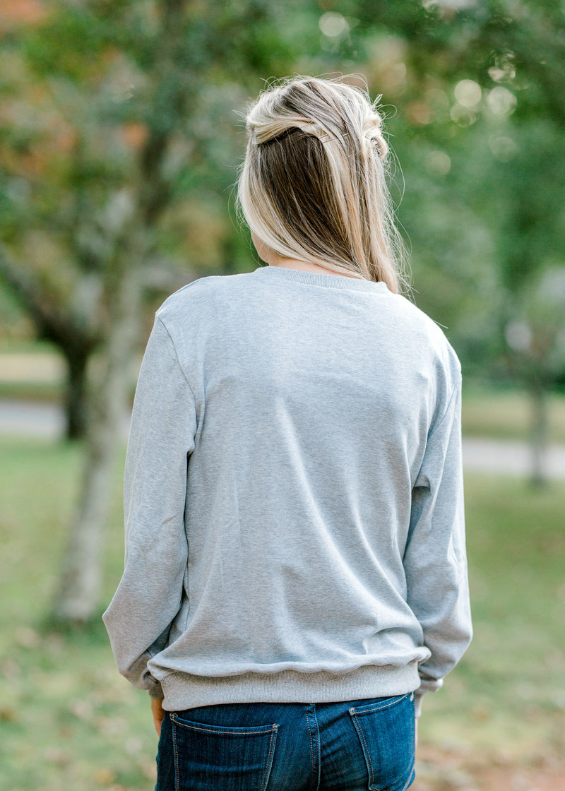simple gray sweatshirt - epiphany boutiques