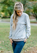elevated gray sweatshirt - epiphany boutiques