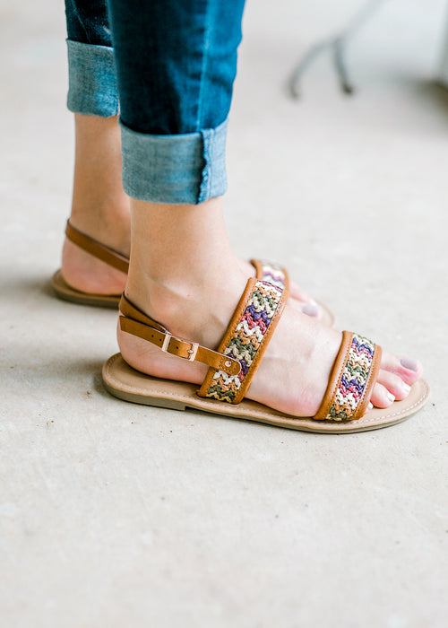 sandal with raffia - epiphany boutiques