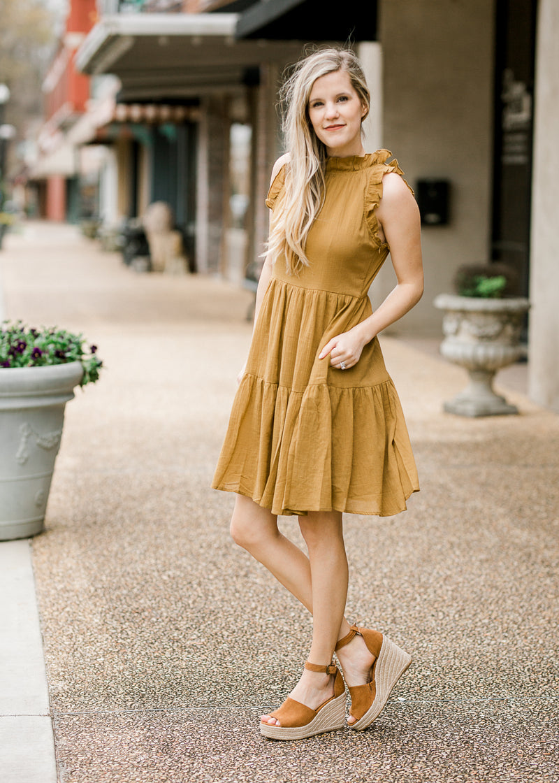 golden green dress - epiphany boutiques