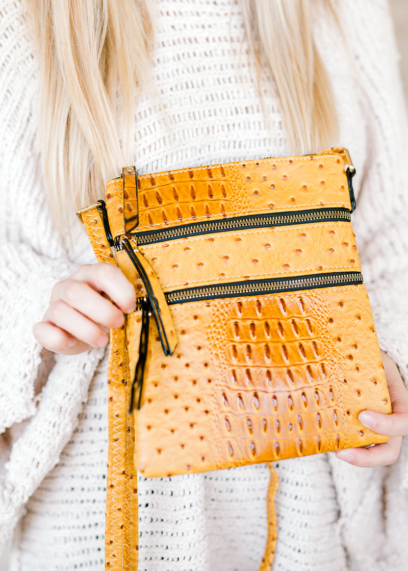 ostrich crossbody purse - epiphany boutiques