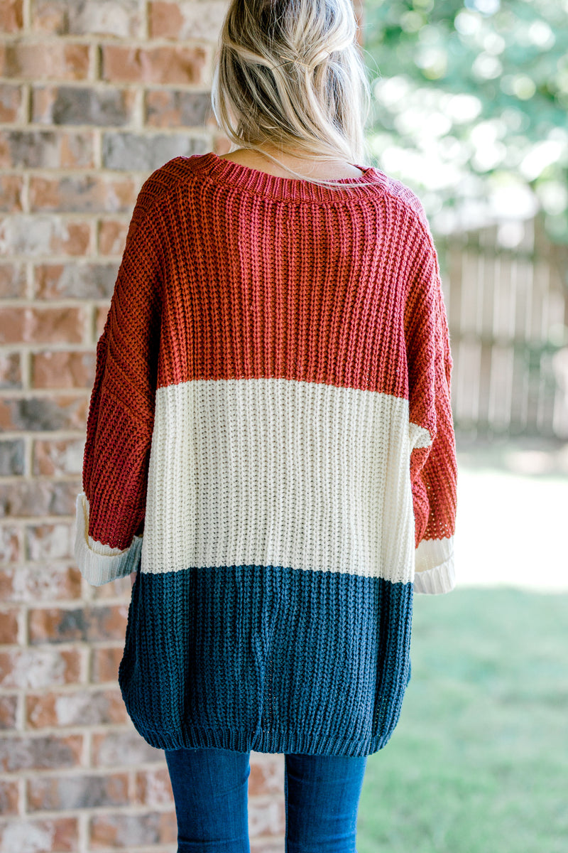 oversized color block sweater - epiphany boutiques