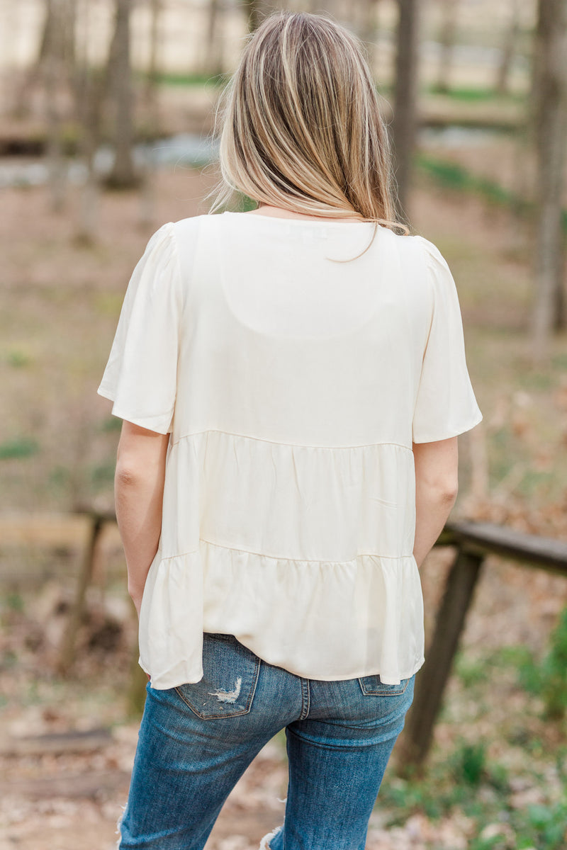 Natalie Embroidered Top