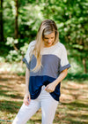 short sleeve colorblock top - epiphany boutiques