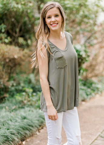 Antique Gold V-Neck Top