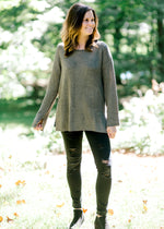 B Olive Basic Sweater