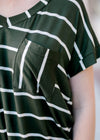 pocket tee with stripes - epiphany boutiques