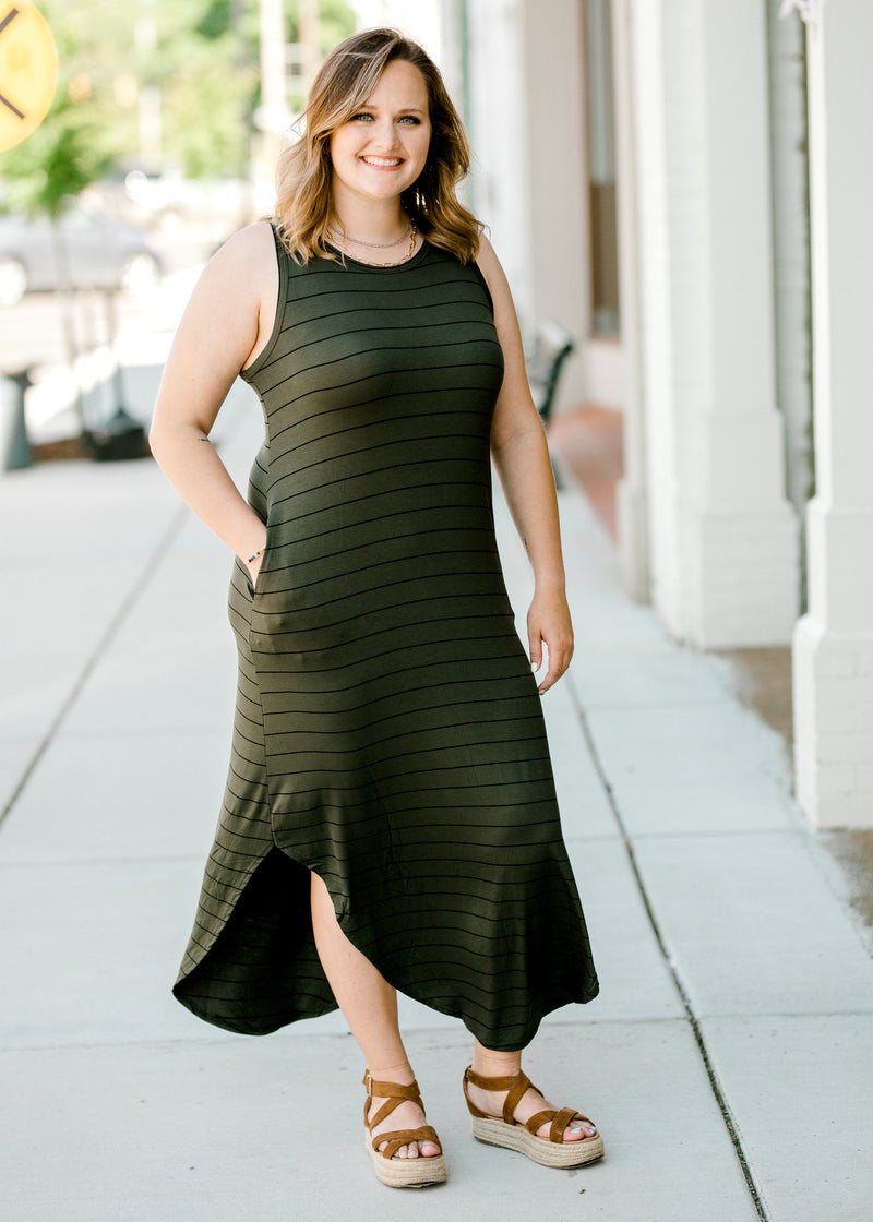 black and olive maxi dress - epiphany boutiques