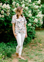 short sleeve floral top - epiphany boutiques