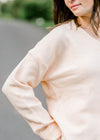 wool blend sweater in peach - epiphany boutiques