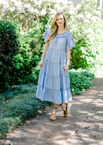 short sleeve midi dress -  epiphany boutiques