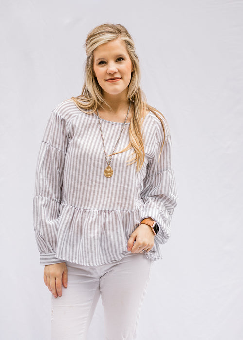 striped long sleeve top - epiphany boutiques