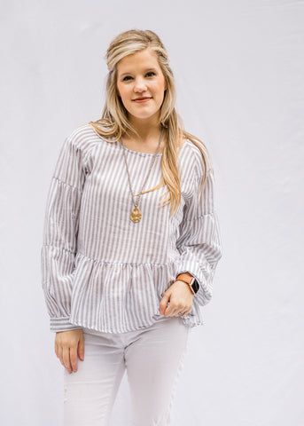 Pewter Stripe Top