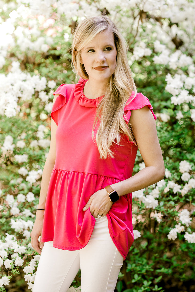 hot pink top - epiphany boutiques
