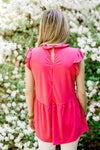 open key hole pink top - epiphany boutiques