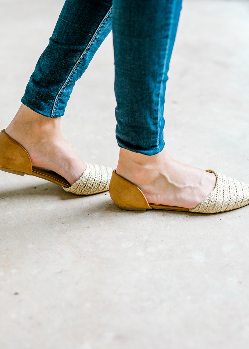 flat with raffia - epiphany boutiques