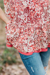 Raspberry Floral Top