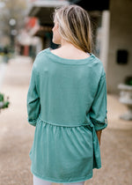 dusty teal back view - epiphany boutiques