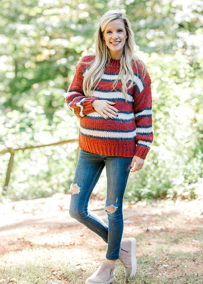 Restless Rust Sweater for the Bump