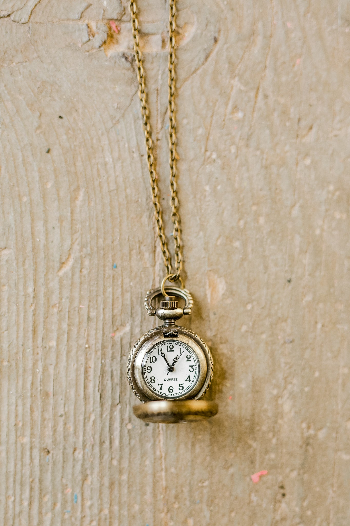 Roman Numeral Pocket Watch Necklace by Two Tree Designs