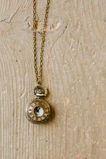 X Roman Numeral Pocket Watch Necklace by Two Tree Designs