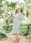 soft sage midi dress - epiphany boutiques