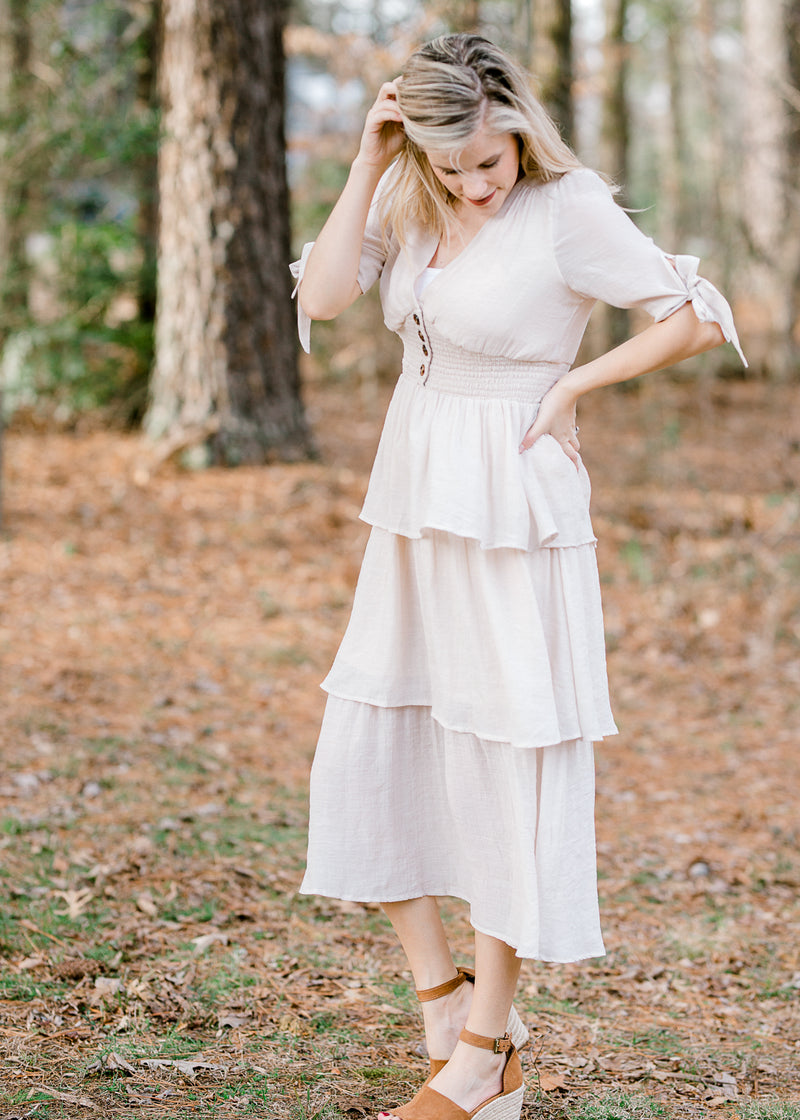 Romantic Ruffle Dress for the Bump