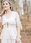 X Romantic Ruffle Dress for the Bump