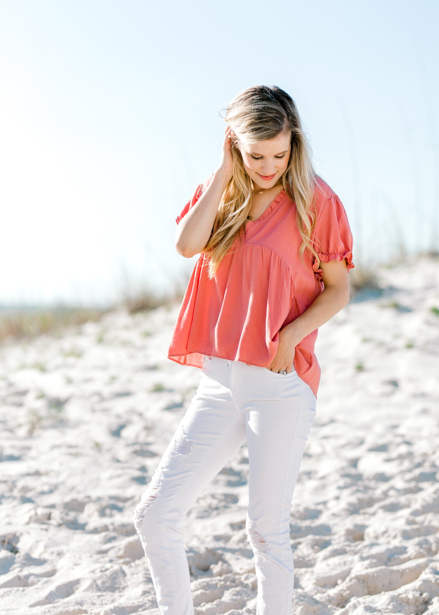 ruffle detail top - epiphany boutiques