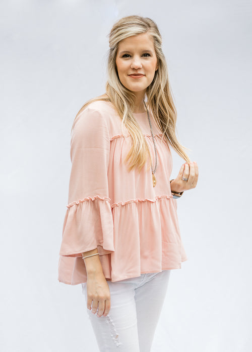 dusty pink top - epiphany boutiques