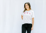 roll tide roll tee in white - epiphany boutiques