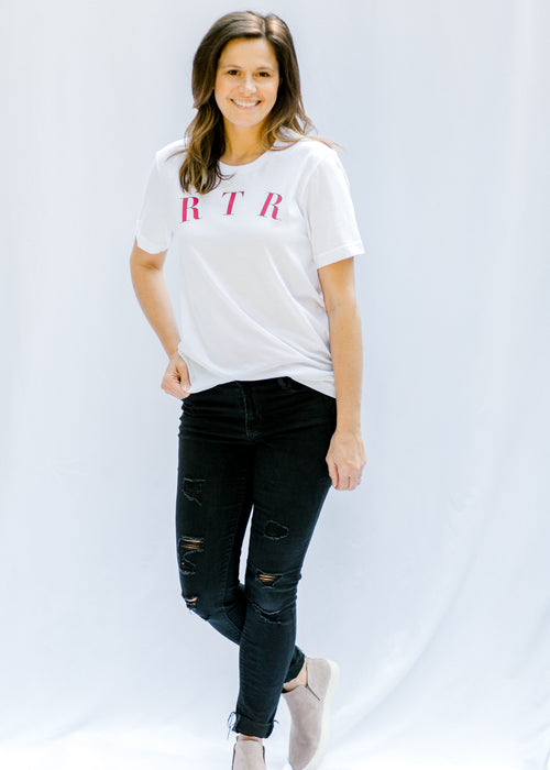 white rtr tee - epiphany boutiques