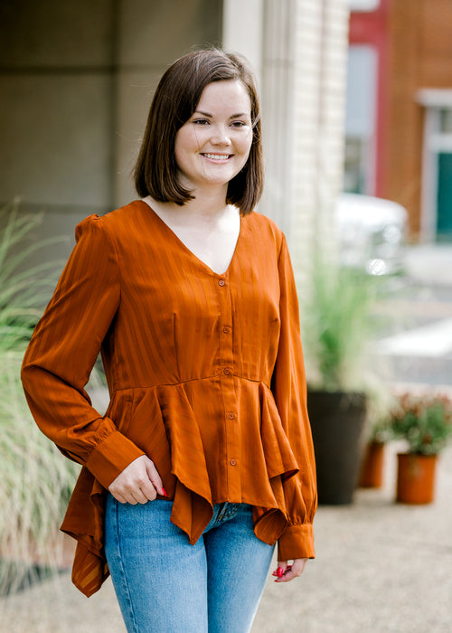 russet top - epiphany boutiques