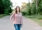 long sleeve stripe top - epiphany boutiques