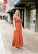 rust maxi dress - epiphany boutiques