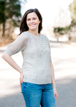Sage Days Short Sleeve Sweater