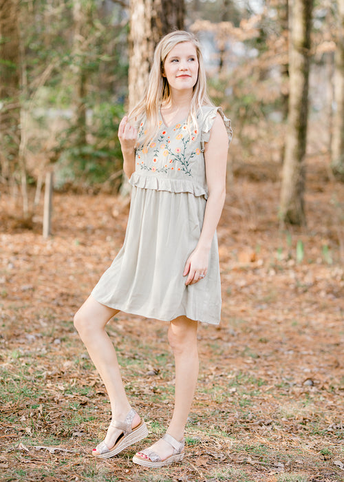 dusty sage dress - epiphany boutiques