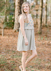 sleeveless dress in sage - epiphany boutiques