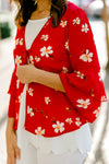 red kimono with flowers - epiphany boutiques
