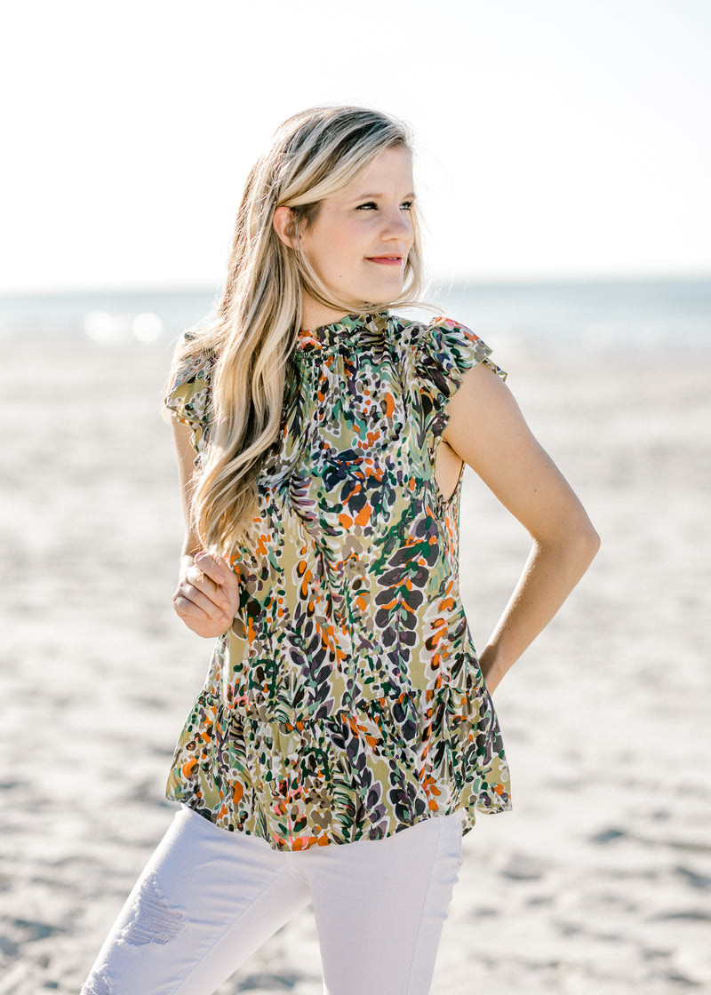green printed top -  epiphany boutiques