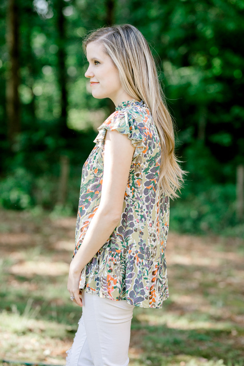 green top with print -  epiphany boutiques