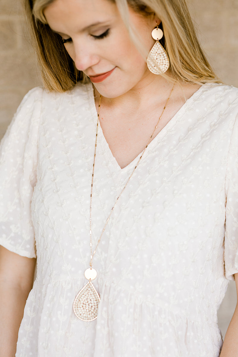 gold chain natural necklace - epiphany boutiques