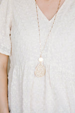 tear drop beaded necklace - epiphany boutiques