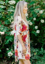 short sleeve floral dress -  epiphany boutiques
